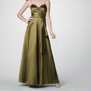 """Alfred Angelo """"Citrine"""" Taffeta Gown- Size 12"""